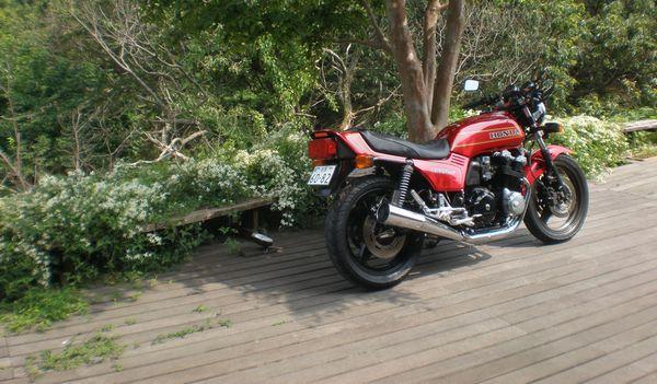 ウッドデッキ バイク