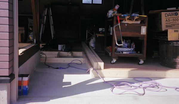 ガレージ床 DIY